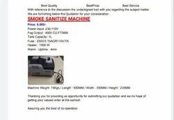 Smoke Sanitizer Machine