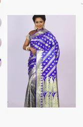 Banarasi And Half Royal Blue Saree