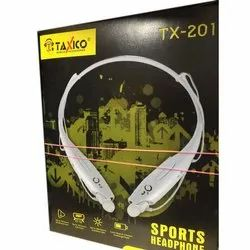 Mobile White Taxico TX 201 Sports Headphone, for Laptop