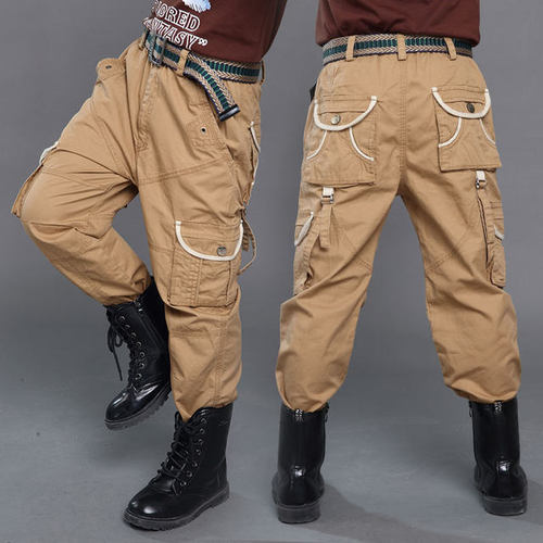 Cotton Kids Boys Stylish Cargo Pants