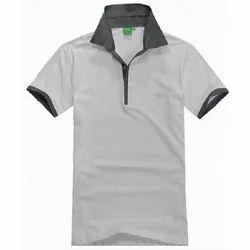 Cotton Collar Neck T Shirt, Size: S - XL