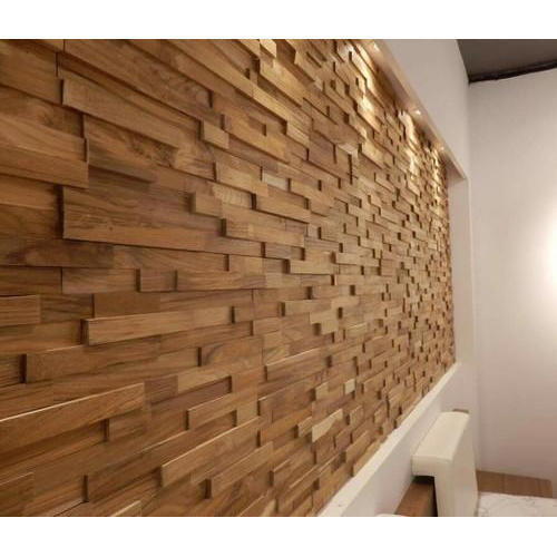 Glossy Finish Wooden Wall Panel