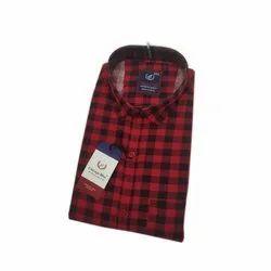 Regular Wear Cotton Mens Check Shirts, Machine wash, Size: S-xxxl