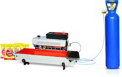 Continuous Sealing Machine for Snacks Packing, 240/50 Hz
