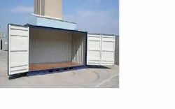 Open side storage container