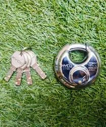 With Key SS Disc Padlock Hyco 70mm, Stainless Steel