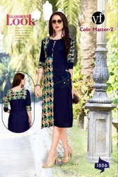 Straight Fancy Rayon Kurti