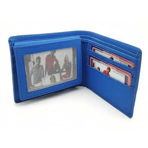 230b9ab94 Mens Leather Blue Fashionable Wallet, Rs 160 /piece, Ok Times | ID ...