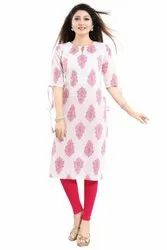 Straight Cut Cotton Kurti