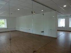 Frameless Glass Partition Work