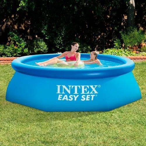 Blue Pvc Intex 8 Feet Diameter Swimming Pool Dimension 8ft X 30in 30 Inches Id 20819073762
