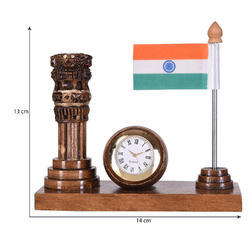 Ashoka Stambh With Flag Clock