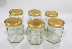 200ml Hexagonal Glass Jar