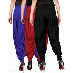 Stylish Dhoti Pants Combo Of 3 (Blue, Red And Black)