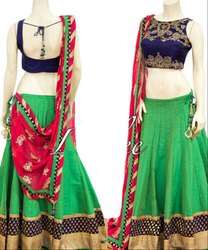 Kelly Green Navratri Special Chaniya Choli