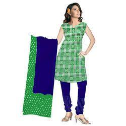 Green Bandhej Fancy Suit