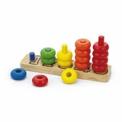 Number Ring Stacker Learning Toy, Packaging Type: Box