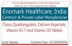 Cissus Quadrangularis, Calcium, Vitamin K27 and D3