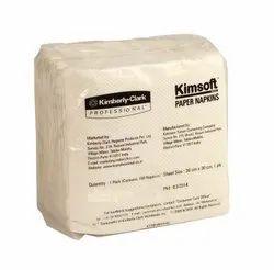 White Kimsoft Paper Napkins