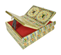 Rehal Holy Quran Book Stand-book Box - Golden Square Cut