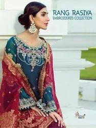 Shree Fabs Rang Rasiya Embroidered Collection Pakistani Style Salwar Suits Catalog