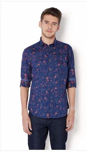 57f3fb5d Cotton Van Heusen Blue Shirt VDSF517E03105, Size: 42, Rs 1799 /piece ...
