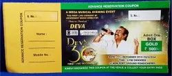 Offset Print White Event management programme Tickets Printing Service, in Chennai, Size: 4 X 8