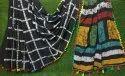 Girraj Printers Black Party Wear Batik Printed Saree, Without Blouse Piece, 5.2 M (separate Blouse Piece)
