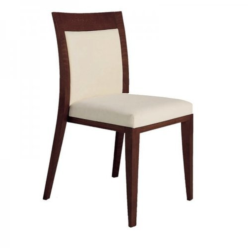 Brown Wood and Fabric Restaurant Chair