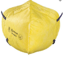 Respiratory Yellow Cotton, Non-Woven Venus V44 Safety Mask for Pharma Industry