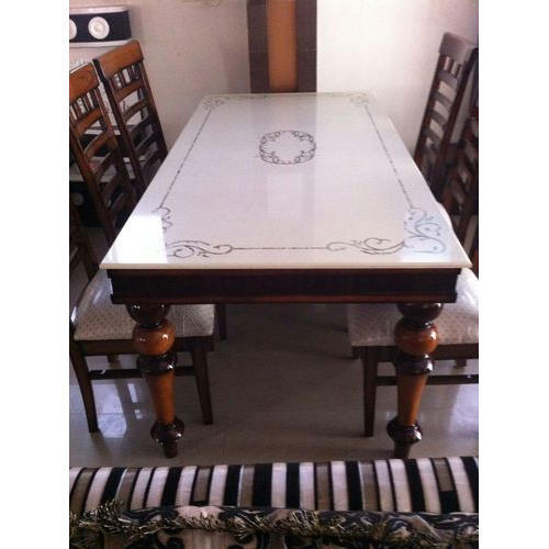Wooden Marble Top Dining Table Set Rs 40000 Piece Royal