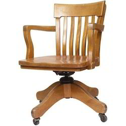 Brown Wooden Office Chair