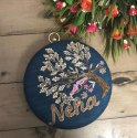 Round Embroidery Clutch