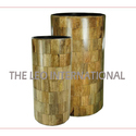 Decorative Wooden Vase New Design Set Of 2