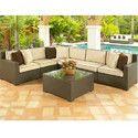 Outdoor Wicker L Shape Corner Sofa Set