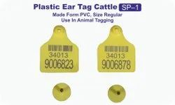 kshama Ear Tag Plastic Cattle 50 Pcs, For Taging, Packaging Type: Packet