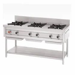 Stainless Steel Cooking Three Burner Range