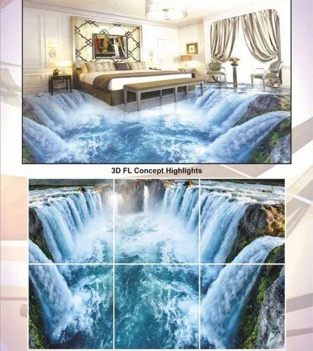 Gloss Ceramic Ocean Floor Tile