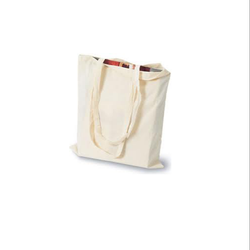 Natural Handled Canvas Tote Bags, Packaging Type: Bundle Packing