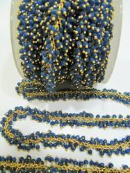 Sapphire Dangling Beaded Chain