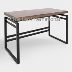 Wood And Metal Large Centerpiece Table