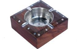 Hanwood Handicrafts Wooden Ashtray