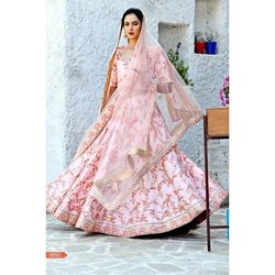 Stitched Ladies Party Wear Lehenga Choli, Packaging Type: Packet