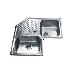 Double Bowl Kitchen Corner Sink