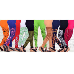 Churidar Casual Wear Ladies Cotton Lycra Printed Leggings