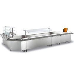 U Shape Food Service Counter