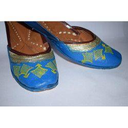 Hand Painted Leather Punjabi Jutti