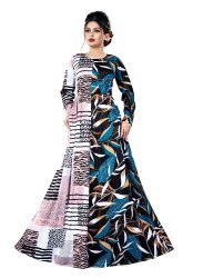 Long Plus Size Digital Printed Anarkali Maxi Gown for Women