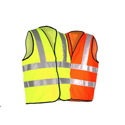 Plain And Net Yellow And Orange Industrial Safety Jacket, Construction And Traffic Control
