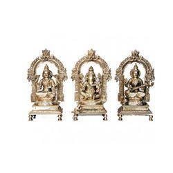 Ganesha, Laxmi and Saraswati Statue